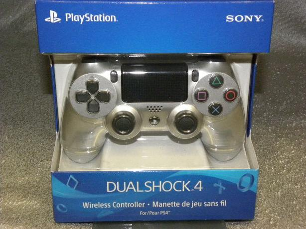 New Silver Sony Dualshock 4 game controller