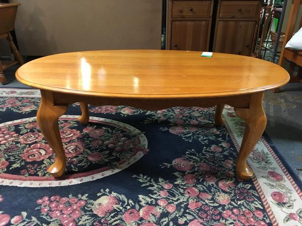 Oval Wooden Coffee Table | #858