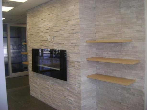 Natural Stone Fireplace Remodeling