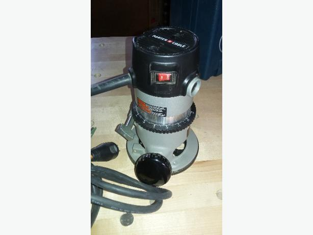Porter Cable Router and belt sander