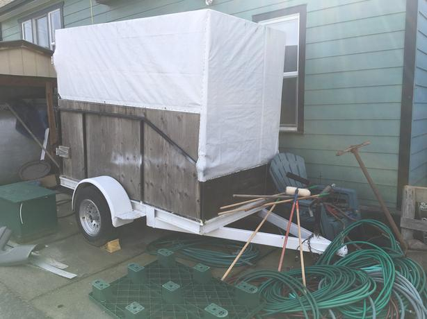 Heavy Duty 4x8 covered Utility Trailer