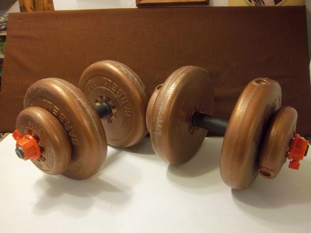 barbells 50 lbs of weights
