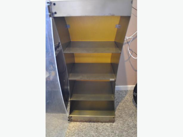 Metal bookcase/display case
