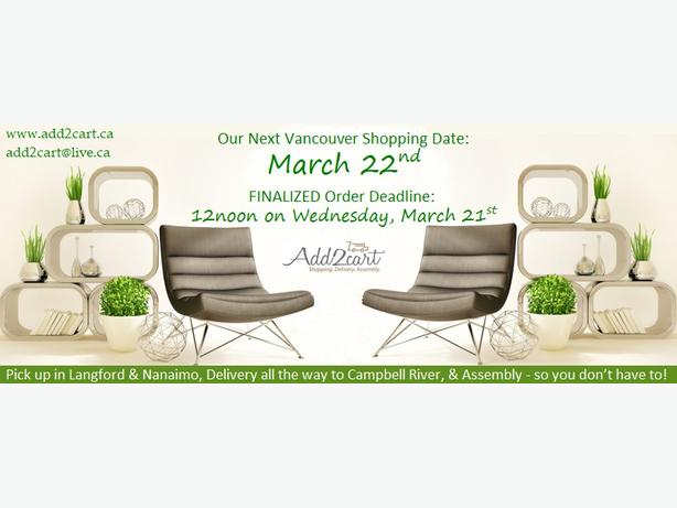 Add2cart.ca Nanaimo | We deliver IKEA |March 22nd