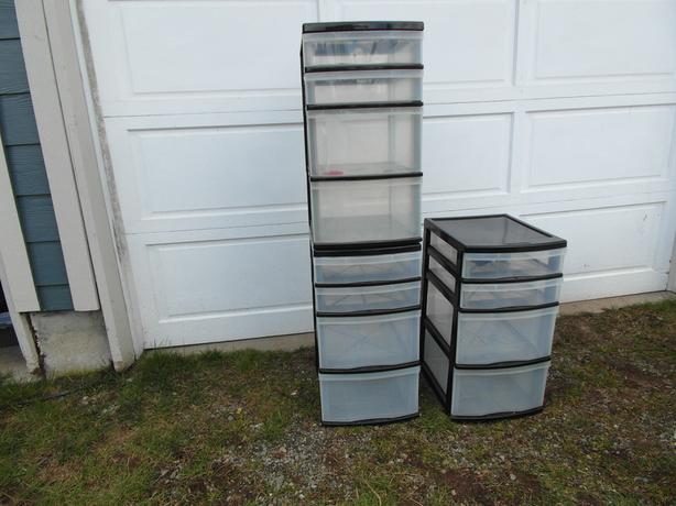 3 sets of 4 drawer storage bins- N. Duncan