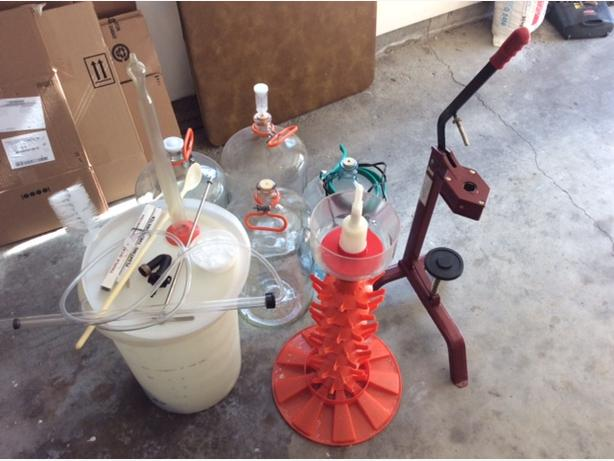Complete wine making supplies