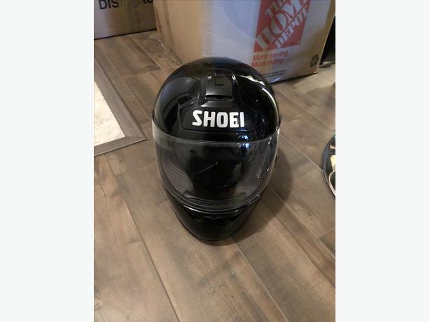 BLACK SHOEI MOTORCYCLE HELMET
