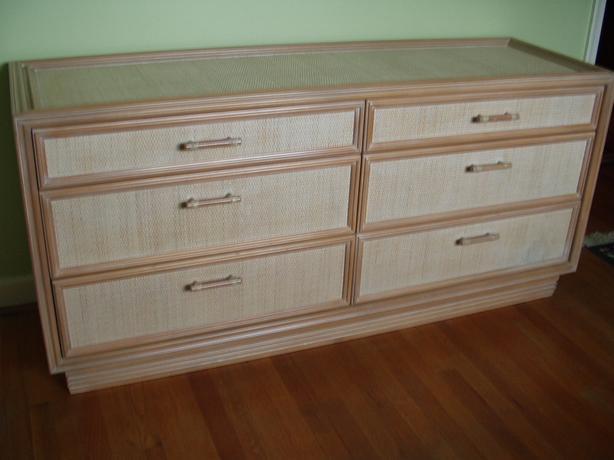 6-drawer Rattan dresser