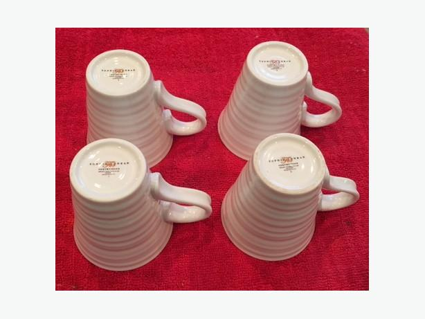 Sophie Conran 4 White Coffee Mugs for Portmeirion