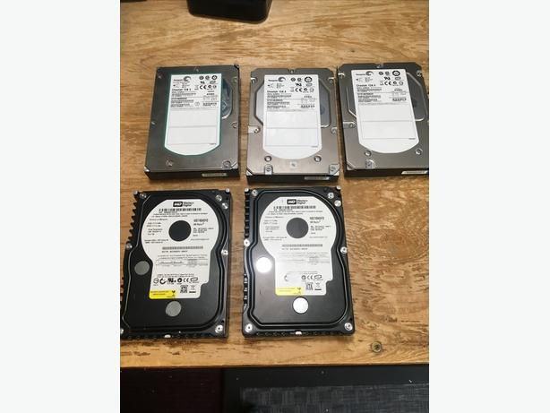 Lot of 5 Enterprise HDD drives (Seagate Cheetah and WD Raptors)