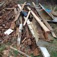 FREE:  old deck wood pickup only