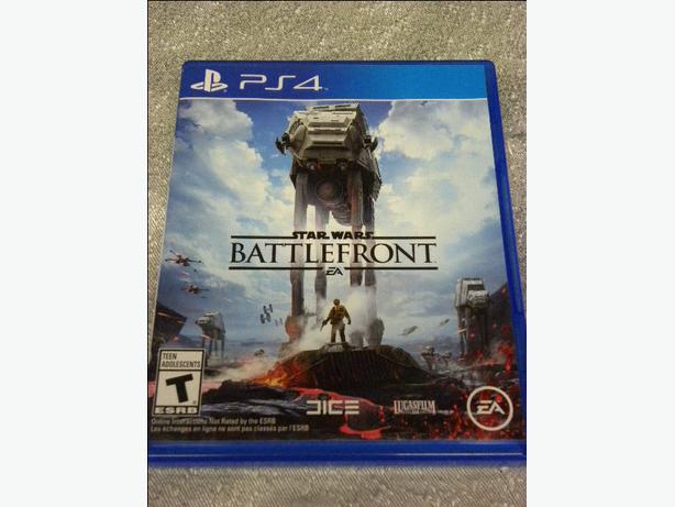 Star Wars Battlefront game for the PS4 console
