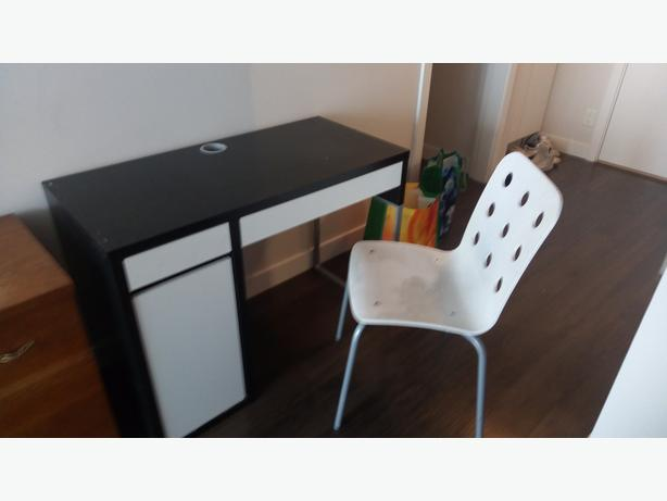Desk ($50) and chair ($10) -- $50 for both together