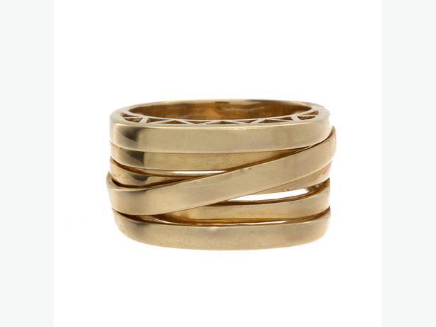Stylish 14K Yellow Gold Stylized Multi Band Ring - 10.19 Grams (16149-11)
