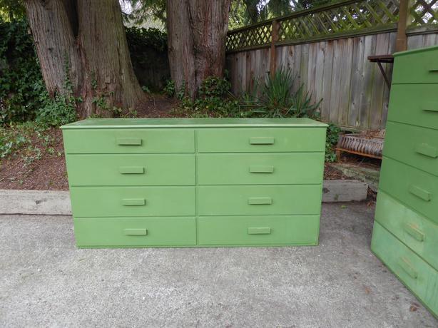 Vintage dresser and headboard set