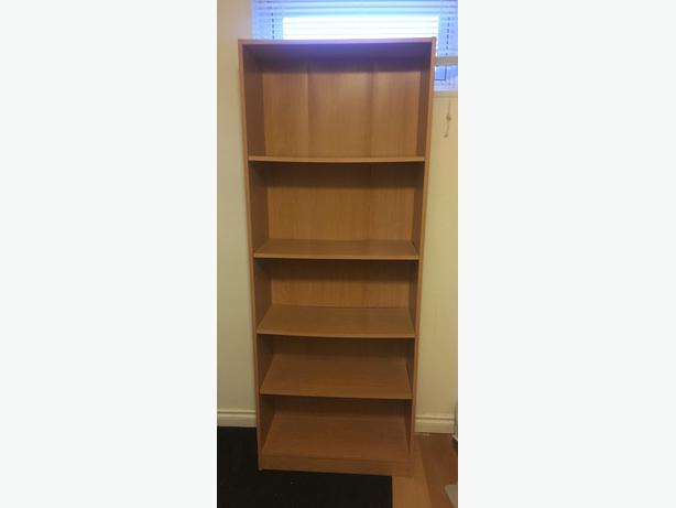 Tan Wood Bookshelves