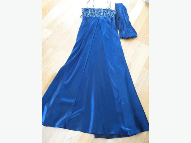 Beautiful Iridescent blue formal or grad dress