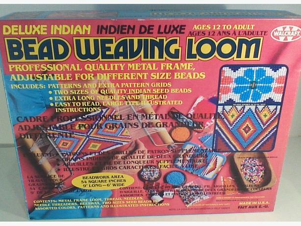 Vintage 1989 Walcraft Deluxe Indian Bead Weaving Loom