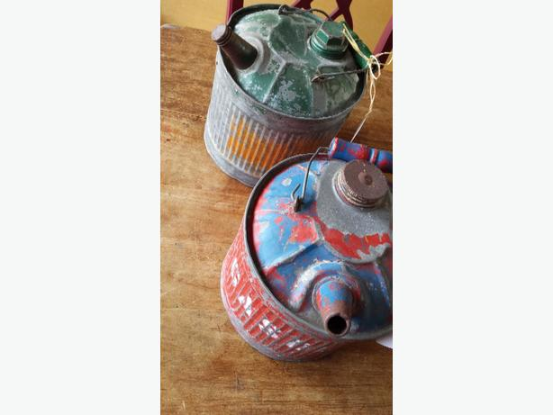 Antique Galvanized Gas Cans