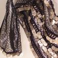 2 piece belly dancing costume with coins
