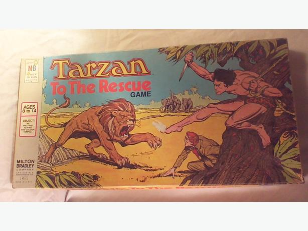 Vintage 1977 Tarzan to the Rescue board game complete