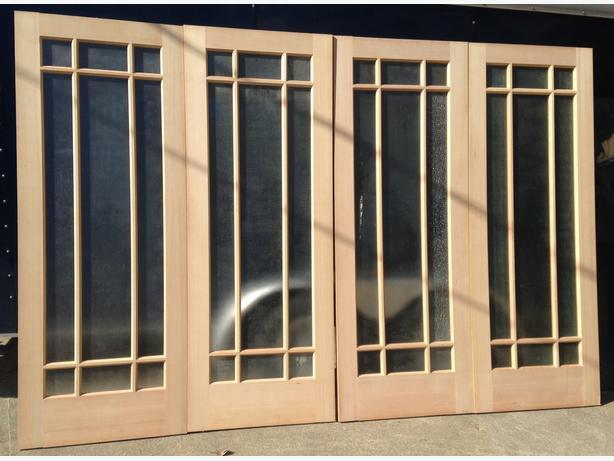 VG Douglas Fir prairie style interior glass doors