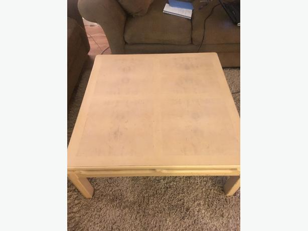 FREE: Real Wood - Coffee table and matching side table