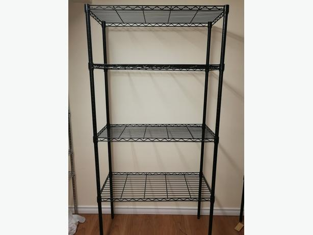 Black 4-tier HEAVY DUTY SHELVING UNIT