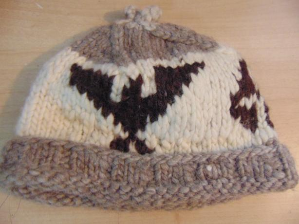 Cowichan Native Indian Vintage Wool Hat With Eagles Adult Large 23 inch ccb8cba7a62