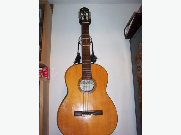 Classical guitar  Kent 1960's with case and extras