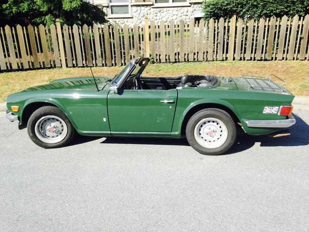  Log In needed $10,000 · 1975 Triumph TR6, British Racing Green