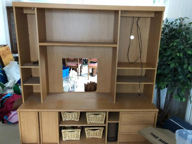 Entertainment Centre Wall unit with lights