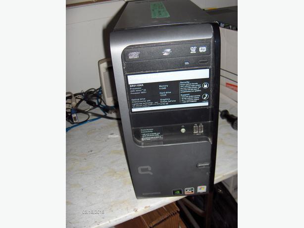 Used Compaq Presario SR5110NX Tower PC with Windows 7