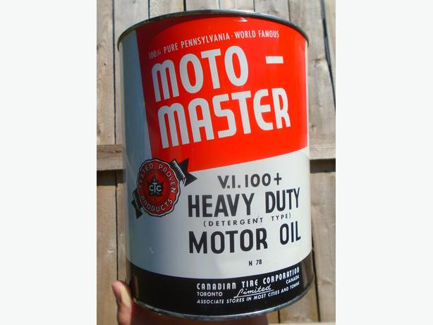 SPP - VINTAGE 1950's CANADIAN TIRE MOTOMASTER MOTOR OIL CAN