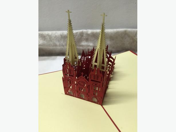 New in Package 3D Decoration Pop-up Souvenir Greetings Card