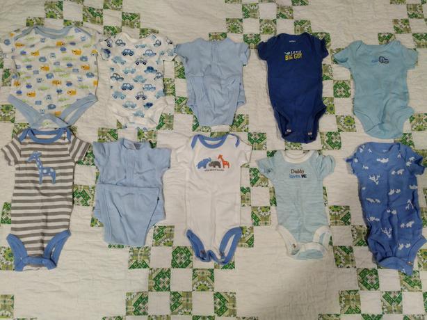 Box of Boy Preemie Clothing