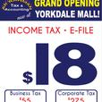 E-file Personal/Business/Corp. Tax at Yorkdale Mall Unit 405
