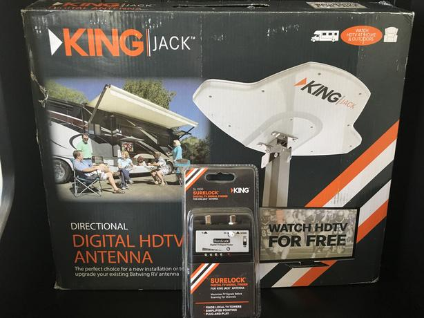 King Jack digital HDTV antenna and signal finder East Regina