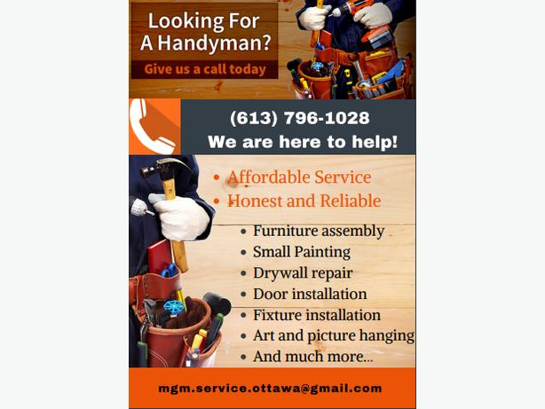 Need a handyman? Call us today! We are here to help