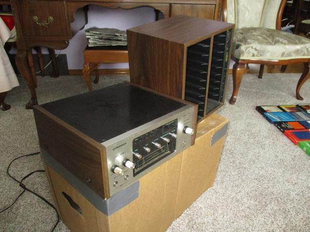 ESTATE EIGHT TRACK PLAYER AND 53 TAPES