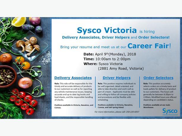 Order Selector PT - Sysco Victoria West Shore: Langford