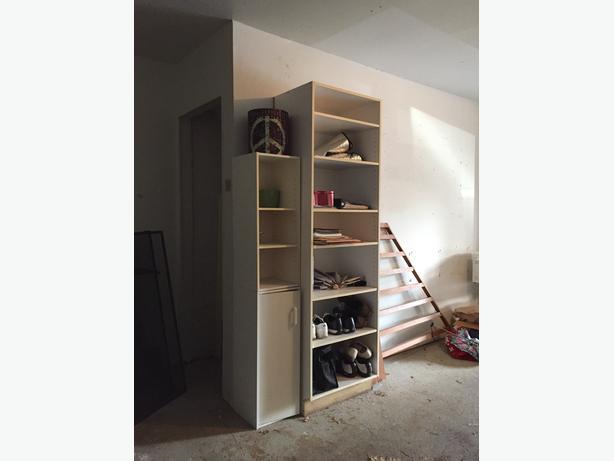Large white bookcase