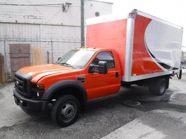 2008 Ford F-450 SD Cube Van 14 foot Diesel Dully Power Tailgate