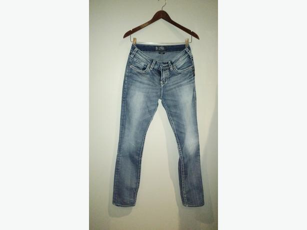 Silver Suki Faded Jeans