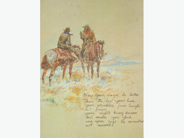OLD WEST COWBOY ARTIST CARD