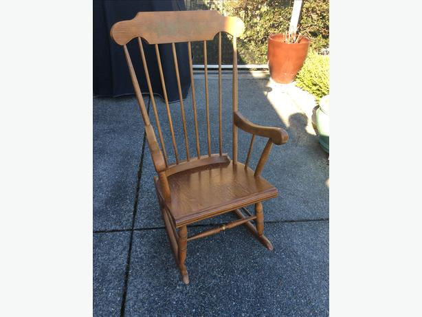 buy popular 15e04 1b0d1 Solid wood rocking chair Oak Bay, Victoria