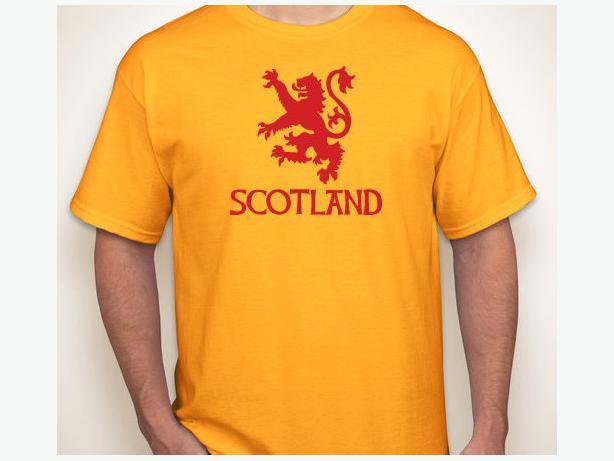 "New ""SCOTLAND"" Rampant lion t-shirt shirt Large"