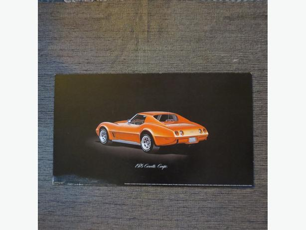 1976 Corvette dealership poster original large 18 by 32 inches