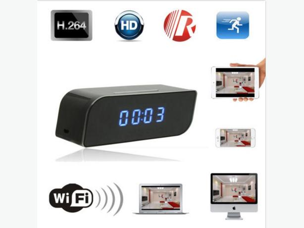 Wireless Wifi IP 720P HD Clock Camera Hidden Home Security Network DVR