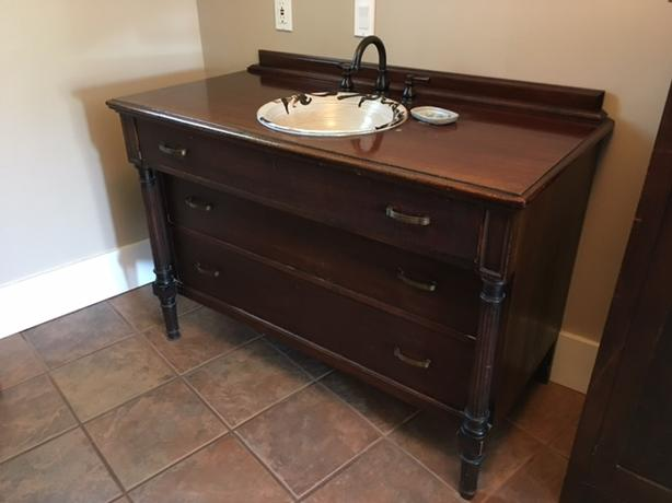 Bathroom vanity sink and taps included victoria city victoria Used bathroom vanity with sink